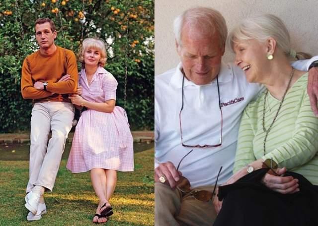 """Пол Ньюман и Джоан Вудворд, 50 лет в браке. Они познакомились, как многие актеры, на съемочной площадке. Страсть не вспыхнула, но интерес появился. Одно """"но"""": Пол был женат. А Джоан встречалась с Марлоном Брандо. Но молодые люди общались как друзья, заложив прочный фундамент своих будущих крепких отношений."""