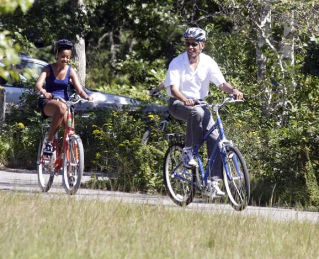 Барак Обама с дочерью