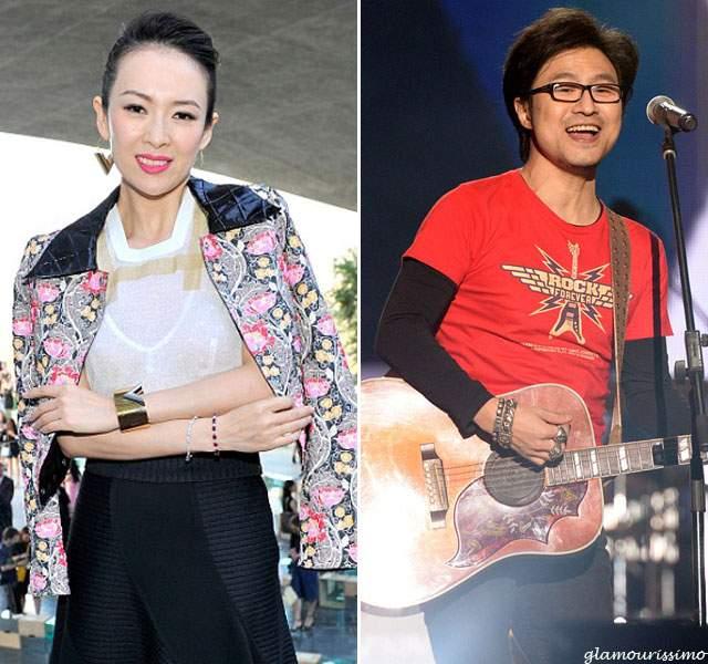 """Чжан Цзыи и Ван Фэн. Знаменитая китайская актриса из """"Мемуаров гейши"""" вышла замуж за рок-музыканта более трех лет назад."""