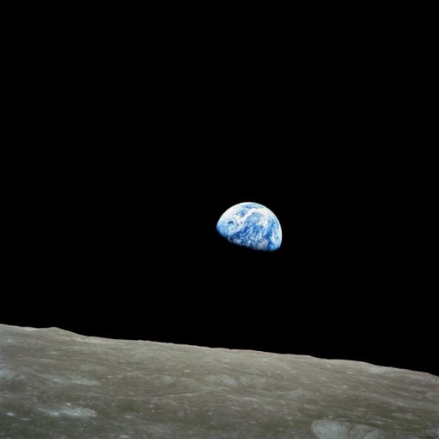 """Фотография, сделанная астронавтом Уильямом Андерсом во время миссии """"Аполлон-8"""". 1968 год."""