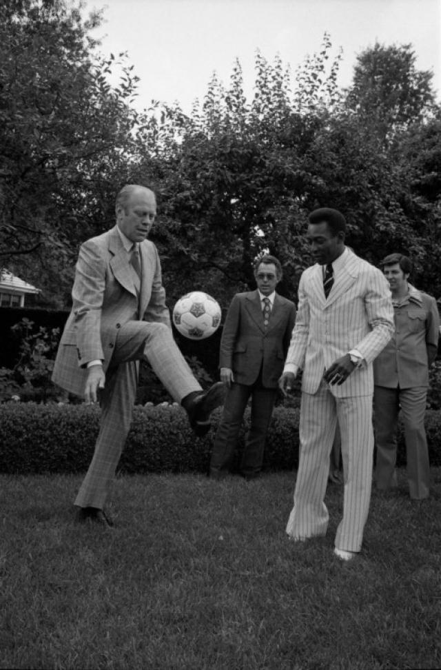 Президент США Джеральд Форд и Пеле.