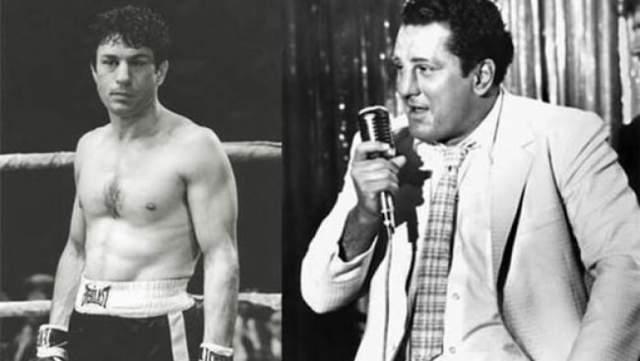 Но о спортивной мускулатуре пришлось забыть: Де Ниро тут же набрал 27 кг, чтобы изобразить своего персонажа уже на пенсии. Вот это упорство!