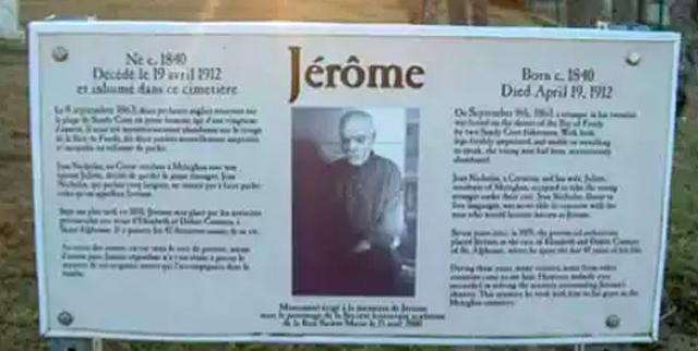 При этом инвалид получал стипендию от властей Нова-Скотии, два доллара в неделю, и был опекаем баптистами. Полагали, что до ампутации Джером был моряком- участником мятежа, например, которого столь страшно наказали.