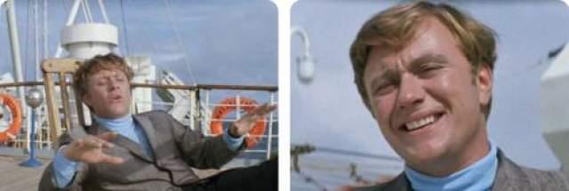 В какой-то момент растрепанные на ветру волосы героя Андрея Миронова укладываются в аккуратную прическу: