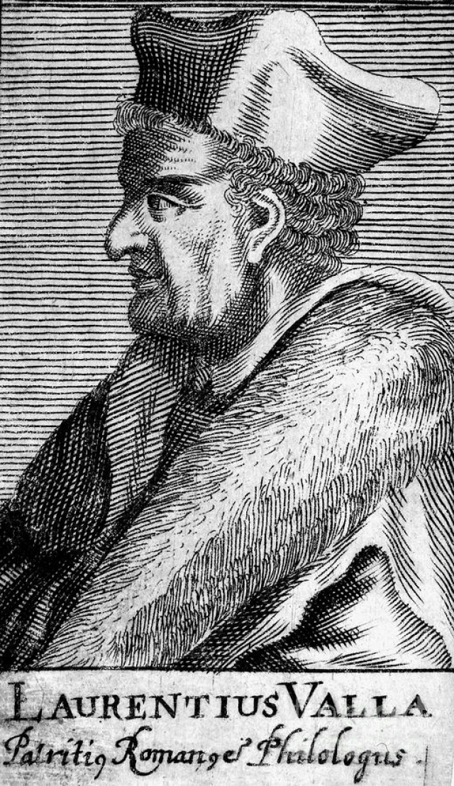 """Первым серьезным исследованием, изобличающем фальсификацию, стал трактат Лоренцо Валлы, написанный в 1440 году. Валла убедительно доказал недостоверность """"Константинова дара""""."""