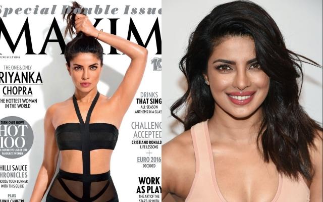 Актрисе Приянке Чопре редакторы Maxim India сгладили подмышку.