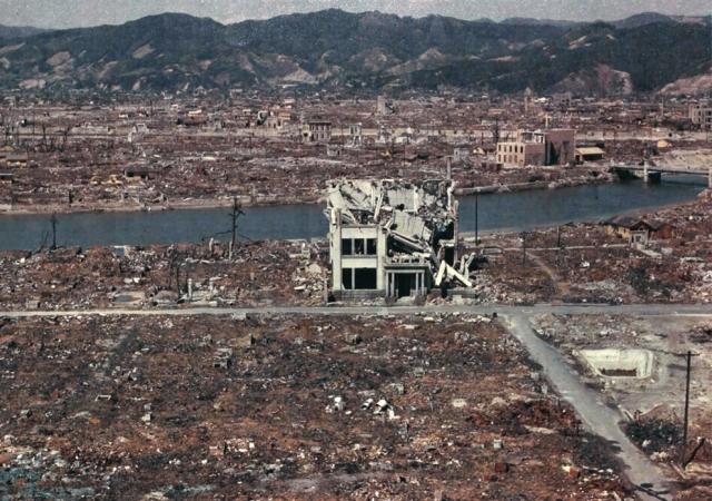 Разрушенная Хиросима в марте 1946 года.