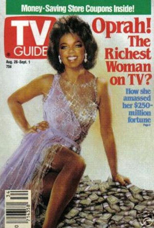 Известная телеведущая Опра Уинфри могла даже обрадоваться, увидев в 1989 году себя в таком соблазнительном виде на обложке журнала TV Guide.