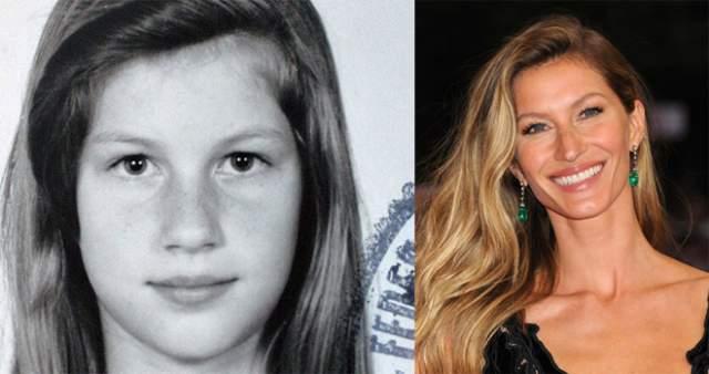 Жизель Бюндхен Когда в1995-м году бразильянка Жизель начинала свою модельную карьеру, девушке говорили, что у нее ничего неполучится: слишком уж большой нос и маленькие глаза.