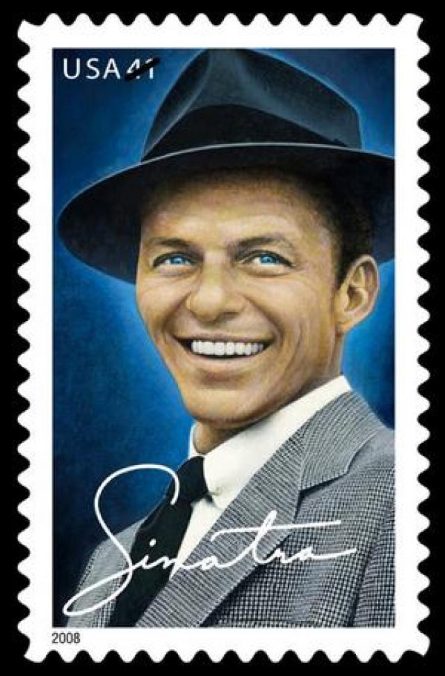 10. В честь Синатры выпущена почтовая марка Фрэнк умер в мае 1998 года от сердечного приступа, ему было 82 года. А через десять лет после этого в Нью-Йорке, Лас-Вегасе и Нью-Джерси поступила в продажу новая почтовая марка с портретом певца.