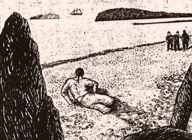 """""""Джером"""" (1840 - 1912) Ранней осенью 1863 года восьмилетний мальчик из канадского местечка Сэнди-Коув обнаружил на пляже незнакомца - молодого белого мужчину, чьи ноги были накануне кем-то, или чем-то ампутированы выше колен. Рядом с несчастным оставили сосуд с водой и ломоть хлеба. Человек не умел или не хотел говорить, только вымолвил всего пару слов, одним из которых стал """"Джером"""". Так люди его и прозвали."""