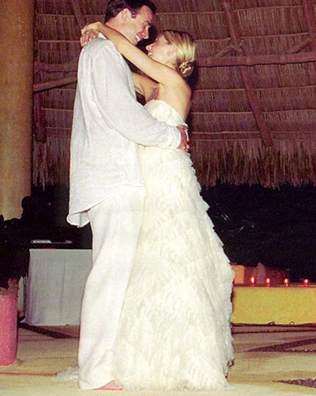 Свадьбу актеры сыграли спустя четыре года.
