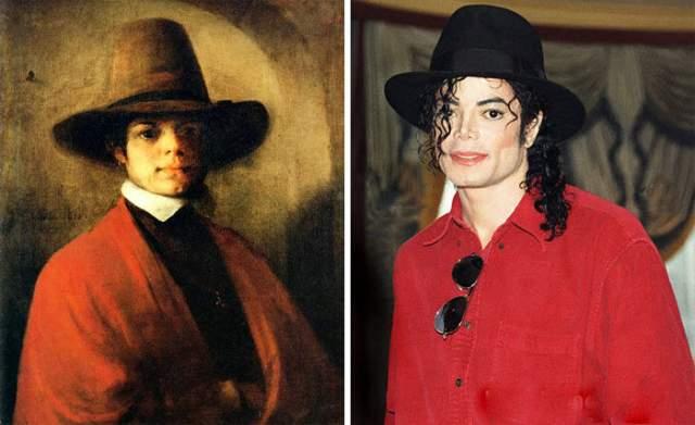 Потрет мужчины голландского художника Барента Фабрициуса и Майкл Джексон