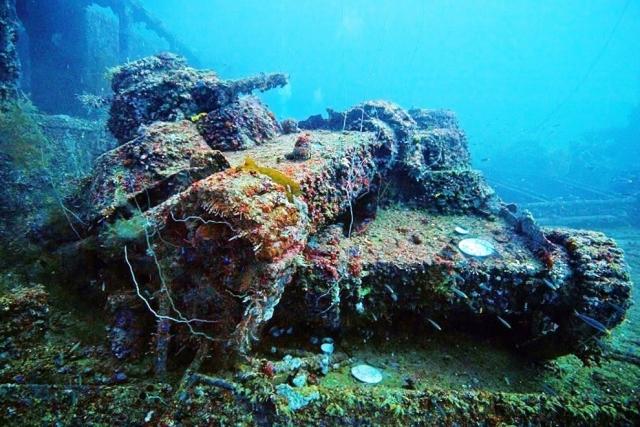 Лагуна Трук в Микронезии. Глубины, усеянные обломками японских военных кораблей и авианосцев, потопленных в 1944 году.