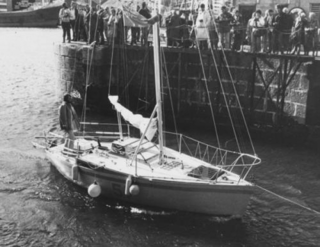 На небольшой шлюпке Стивен Каллахэн отплыл из Эль-Йерра на Канарских островах по направлению к Карибскому бассейну.