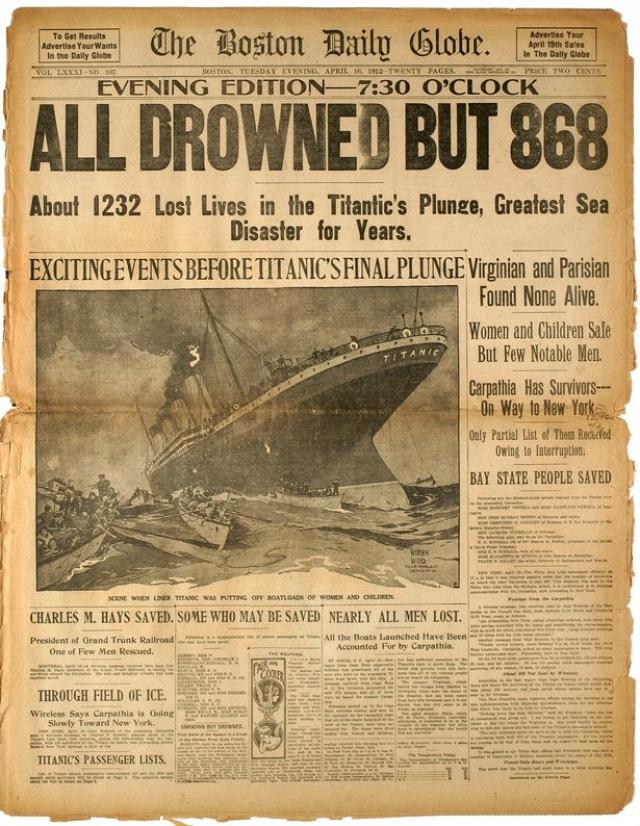 """Один из спасенных пассажиров """"Титаника"""" напишет позже:""""В ту ночь было совершено много героических поступков, но ни один из них не мог сравниться с подвигом этих нескольких музыкантов, игравших час за часом, хотя судно погружалось все глубже и глубже, а море подбиралось к месту, где они стояли. Музыка, которую они исполняли, дала им право быть внесенными в список героев вечной славы""""."""