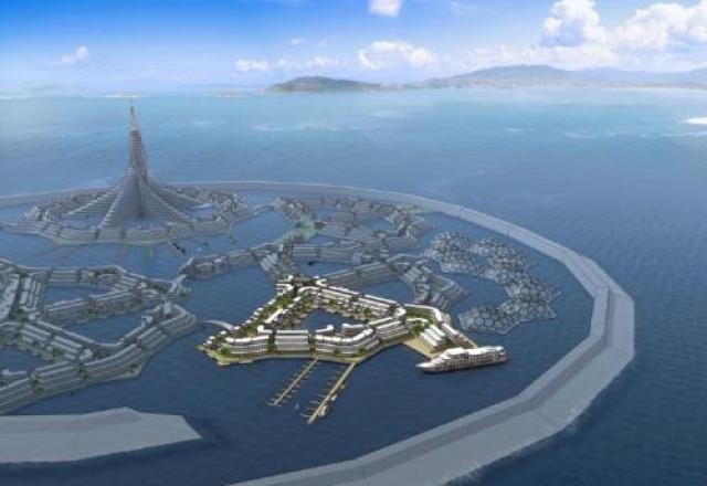Потом интерес проявили сами американцы, в частности, власти Балтимора лоббировали проект строительства Тритона в Чесапикском заливе. В их варианте город не обязательно напоминал бы гигантский корабль, а мог быть, например, таким: