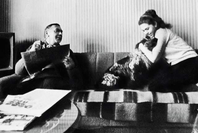 Анатолий Папанов с дочерью Еленой, которая пошла по стопам отца и стала актрисой.
