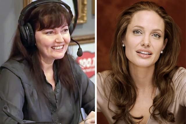 Ольга Зубкова - Анджелина Джоли. Зубкова более десяти лет является российским голосом Анджелины Джоли. Актриса признается, что, когда говорит за голливудскую красотку, ее голос становится более сексуальным и низким.