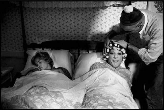 """Джессика Ланж и Дастин Хоффманн на съемках фильма """"Тутти"""" Сидни Поллака. 1982 год."""