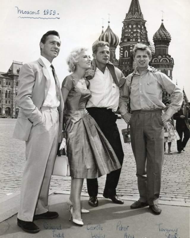 1959 год, Ричард Тодд, Кэрол Лесли, Питер Арне и Томми Стил в советской столице.