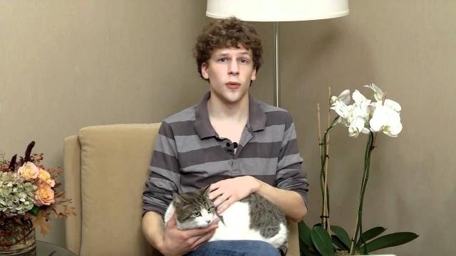 Джесси Айзенберг. Актер не только хозяин кота по имени Мистер Транклз, но и помощник многочисленных объединений защитников бездомных животных.