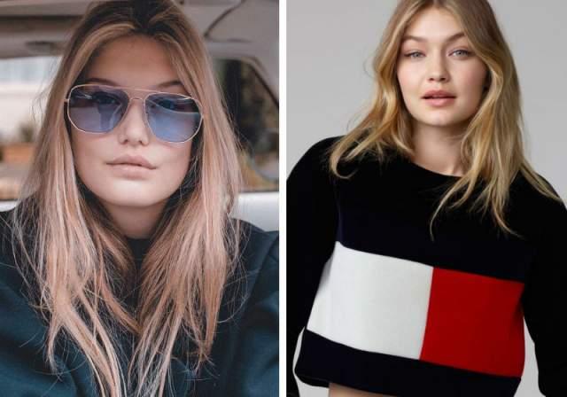 Сама Айзерман особого сходства не замечает: ей кажется, что она больше похожа на Беллу (Bella Hadid), младшую сестру Джиджи.