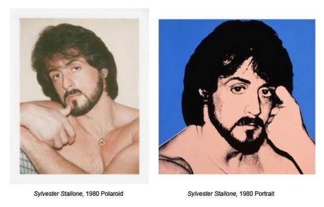 Сильвестр Сталлоне , которого сфотографировал Уорхол для картины в стиле поп-арт.