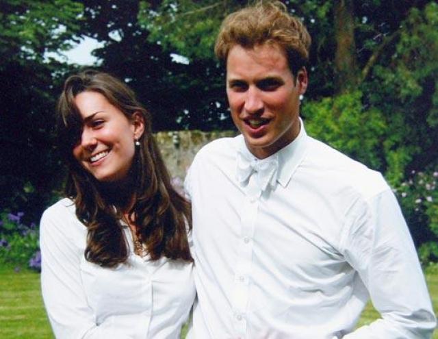 Кейт Миддлтон и принц Уилльям. Кейт и принц Уилльям познакомились в 2002 году, когда вместе учились в университете Сент-Эндрю.