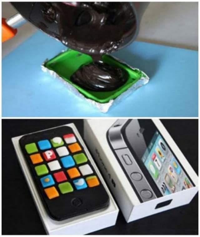 Также вы можете подарить ребенку iPhone Шоколадный iPhone