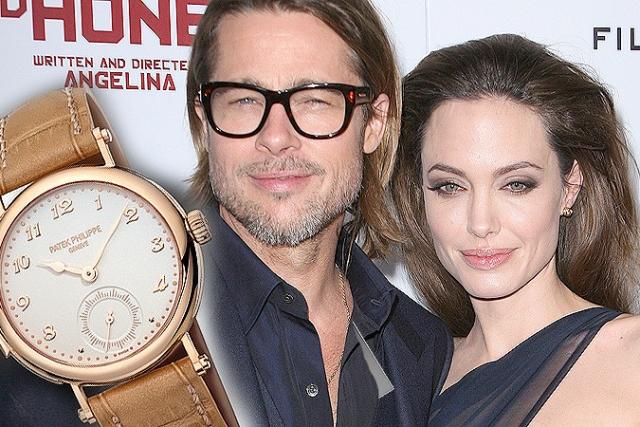 Вместо печатной машинки она презентовала Брэду платиновые часы Патек Филипп за 3 миллиона долларов.