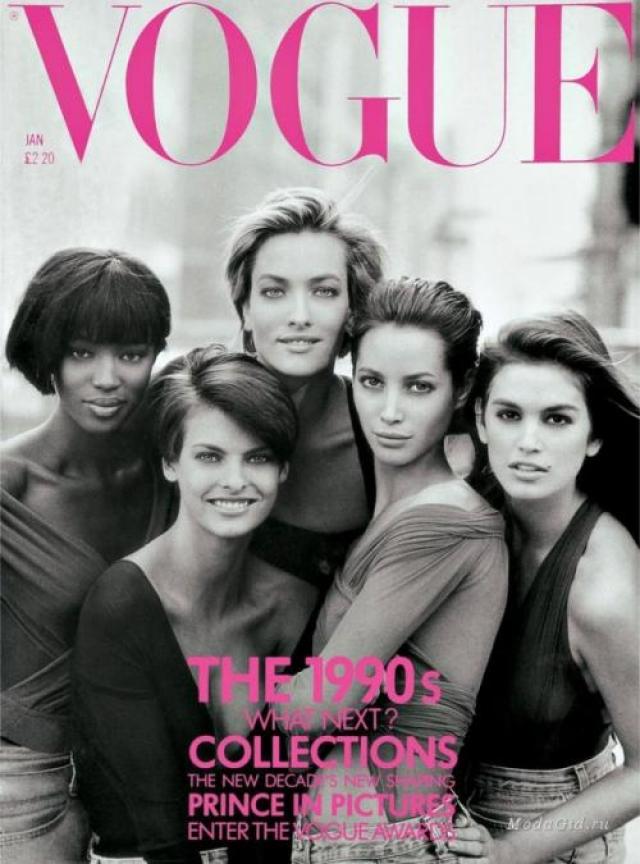 В 1990 году девушка появилась на обложке Vogue с Кристи, Наоми, Линдой и Синди, девушки стали олицетворением красоты и моды той эпохи.