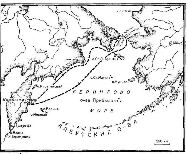 К таинственным землям не проявляли интереса до начала XVIII века, когда в восточной Сибири истощились пушные запасы.
