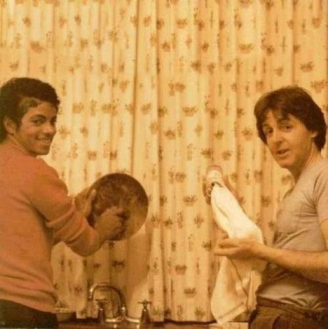 Майкл Джексон и Пол Маккартни.