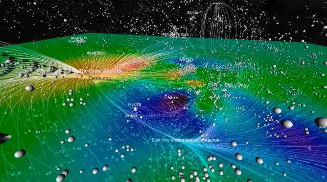 Великий аттрактор. Эта гравитационная аномалия расположена в межгалактическом пространстве на расстоянии в 250 миллионов световых лет.