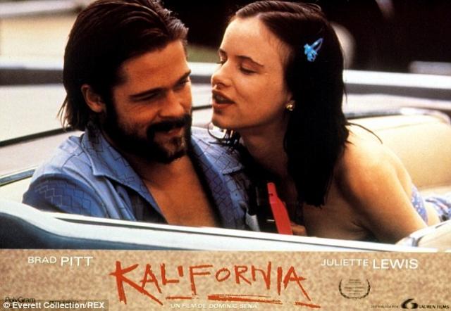 """Примечательно, что последней совместной работой пары стала """"Калифорния"""", где герой Питта с особой жестокостью убивает героиню Джульет."""