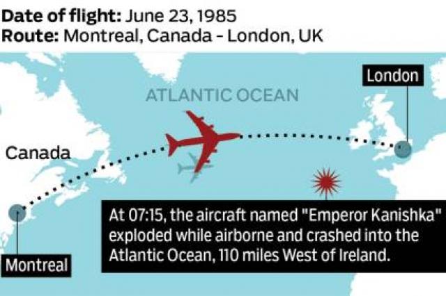 Boeing 747-237B борт VT-EFO совершал рейс AI181 по маршруту Бомбей-Дели-Франкфурт-на-Майне-Торонто-Монреаль. На промежуточной посадке в Торонто к самолету под левым крылом прикрепили пятый двигатель.