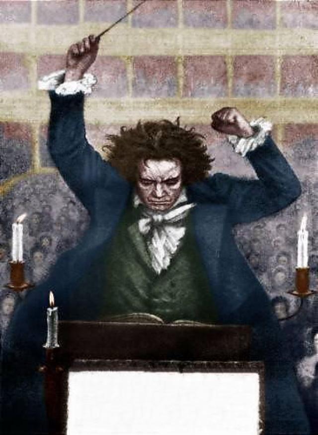 Одежда гения была такой грязной и рваной, что друзья из жалости периодически покупали ему новую. Лицо Бетховена, бывшее смуглым в молодости, от болезней стало желтым и рябым, седые волосы все время стояли дыбом.