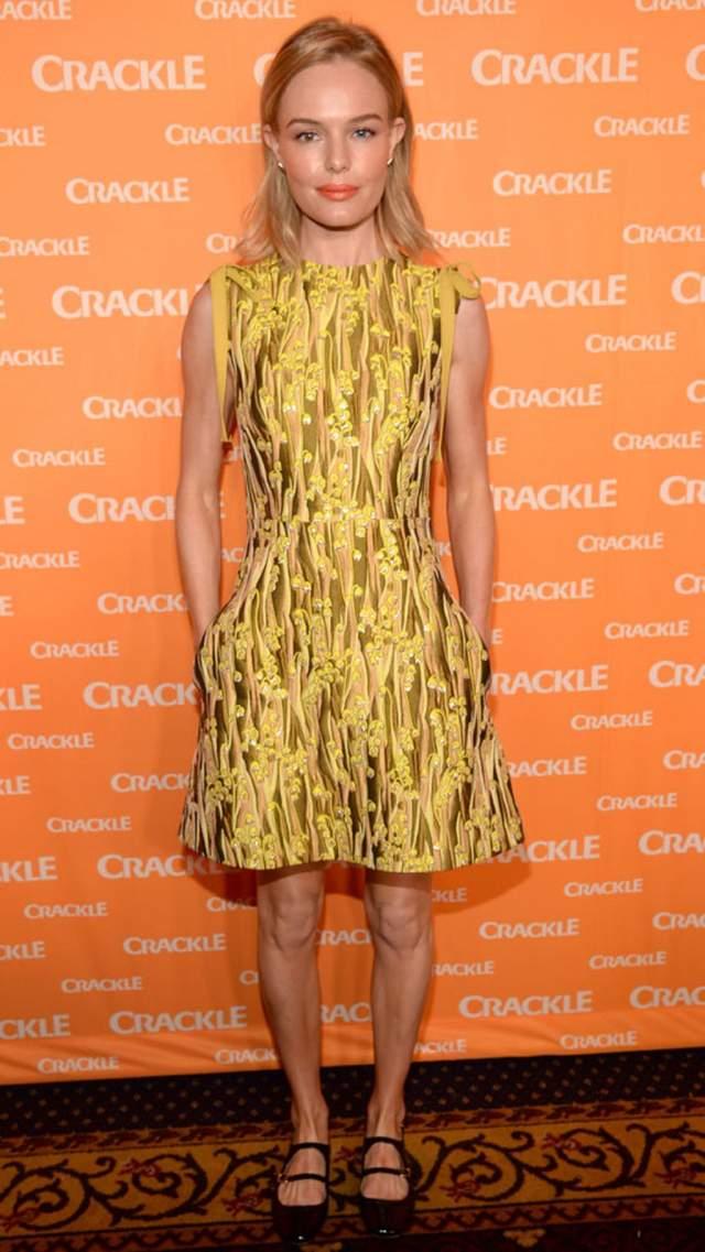 Кейт Босуорт в желтом нечто.