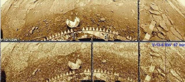 Точки на кадрах считали шумами, потерей информации. Например, когда сигнал, передаваемый в негативе, от одной точки изображения теряется, на его месте появляется белая точка. Однако, после обработки изображений стало ясно, что осадки на Венере имеют место.
