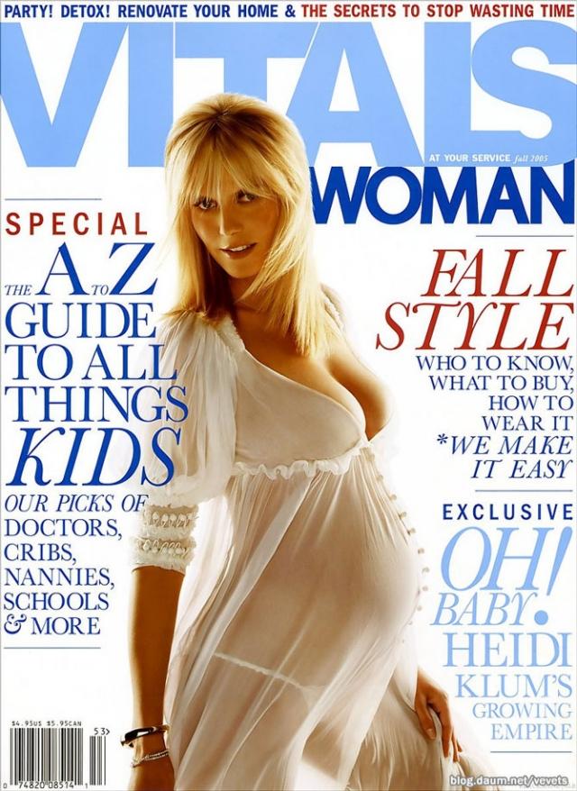 Хайди Клум предстала в весьма эротичной фотосессии на последних месяцах беременности.
