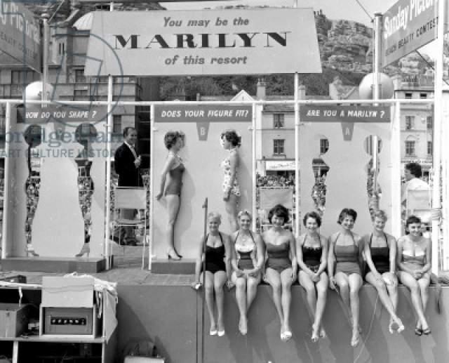 Мисс фигура Мэрилин Монро - 1958 год. Участницы могли сравнить свои фигуры с шаблонами фигур Мэрилин Монро. Победа доставалась участнице с самыми схожими параметрами.