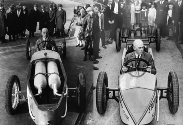 Макс Валье: погиб от взрыва ракеты. В 1927 году Валье создал Общество космических полетов, а в 1928-м сконструировал ракетный автомобиль, разгоняющийся до 145 миль в час. Но этого было мало, и Валье придумал сани, развивающие скорость в 250 миль в час.