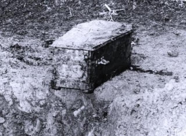 17-ого мая того же года гроб действительно был найден в пятнадцати километрах от прежнего места.