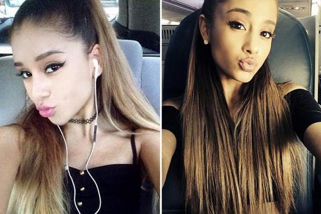 """Между тем о """"копии"""" знаменитости написали все мировые СМИ. Хотя девушка считает, что они похожи с певицей лишь прическами и бровями."""