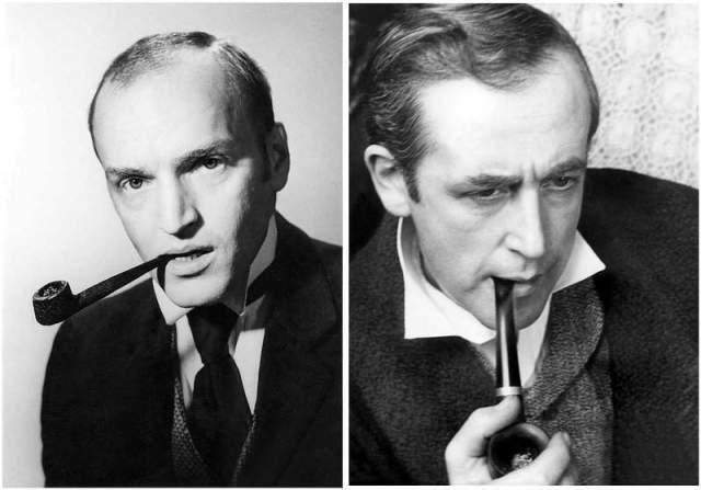А это фотопробы Александра Кайдановского и Василия Ливанова на роль Шерлока Холмса.