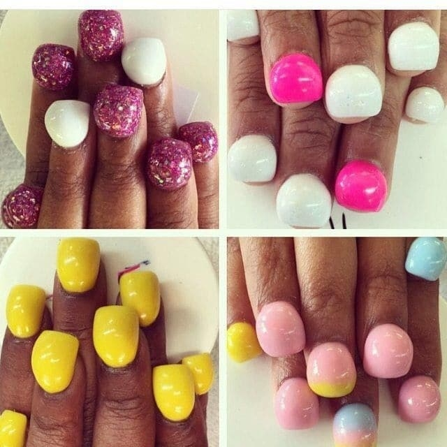 "17.Круглые ногти ""bubble nails"" |"