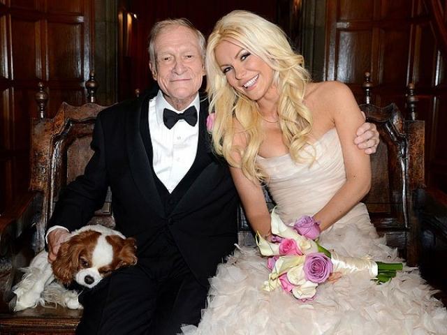 Хью Хефнер и Кристал Харрис. 87-летний владелец Playboy решил связать свою судьбу с 27-летней моделью своего журнала.