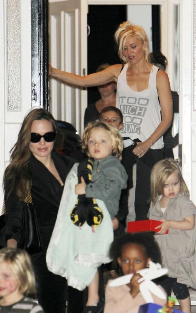 Они подружились в 2006 году, когда у них с разницей в один день родились дети: старший сын певицы Кингстон появился на свет 26 мая, а дочь Джоли Шайло - 27 мая.