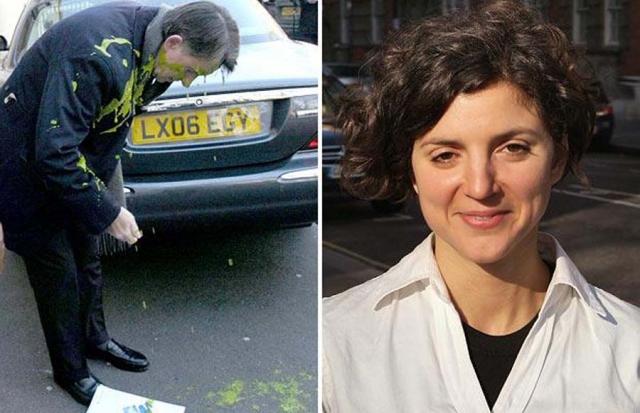 Нападавшая Лейла Дин сказала, что швырнула горчицей в лицо Мандельсона в знак протеста против поддержки правительством третьей полосы в лондонском аэропорту Хитроу.